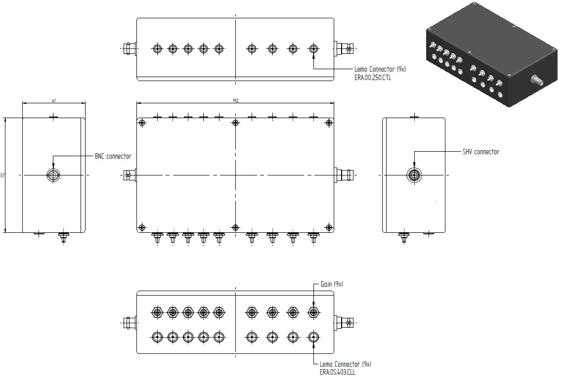 Voltage Dividers Scionix The Potential Divider Bias These Modules Can Be Equipped With Built In Preamplifiers Or High